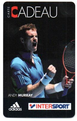 Jolie carte cadeau INTERSPORT Andy Murray voir photo
