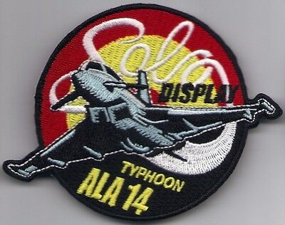 Spanish Air Force Ala 14 Solo Display   Ef2000 Ecusson Patch  Parche Toppa