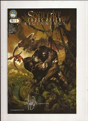 Soulfire Chaos Reign Beginnings #1 SIGNED By Michael Turner + COA Aspen VF/NM