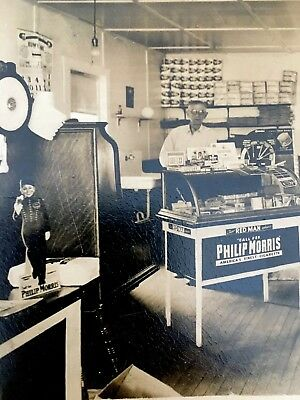 True Vintage Antique Photo Nor Mehoopany PA General Store Nice Old Advertising