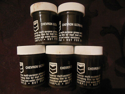 5 Vintage Chevron Ultra Duty Grease 2 Sample Containers
