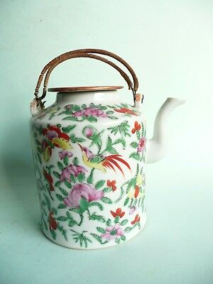 Antique Chinese Porcelain Famille Rose Teapot...........................ref.1528