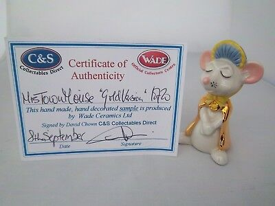 Wade Mrs Town Mouse With Gold Detail - L/e 20 - Excellent Condition