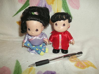 Two 4 1/2.  International Hi Babies Precious Moments World Doll - China & Japan