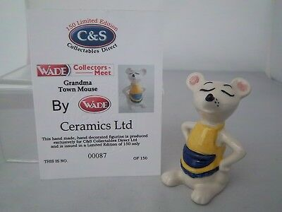Wade  Grandma Town Mouse - Yellow & Blue Apron - L/e 150 - Excellent Condition