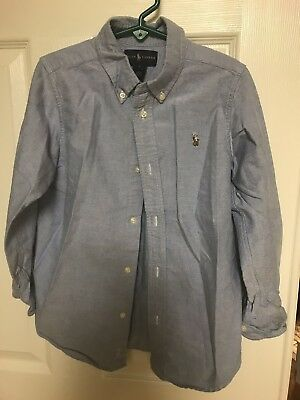 5 Ralph Lauren Shirts, 1 RL Vest, 1 J Bailey's Shirt Lot of Boys Shirts All Sz6