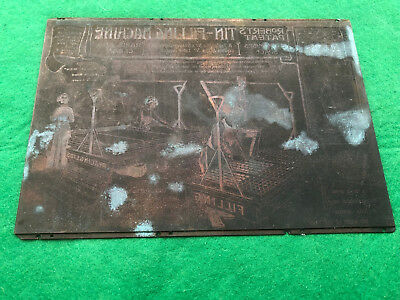 Vintage Copper Printing Plate - Robert's Patent Filling Machine Co. Bolton