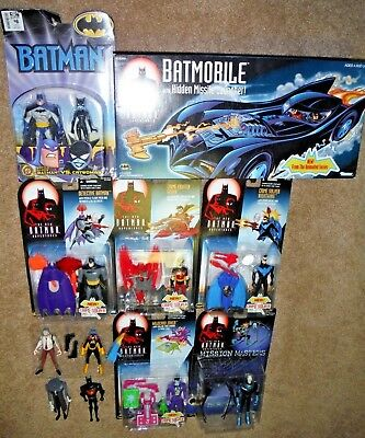 New Batman Adventures 11-Figure Lot +Batmobile in Box Animated Series Detective