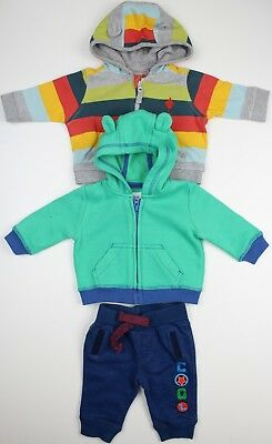 Baby Boys 3pc Multi Coloured Hoodies Jackets Joggers Trousers Newborn
