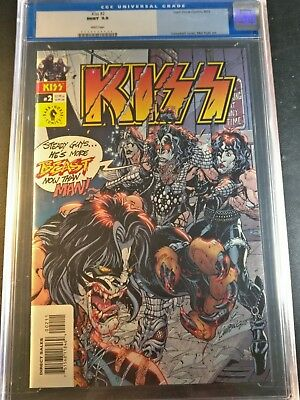 2002 Dark Horse Comics Kiss #2 CGC 9.9 Mint WP Campbell Cover