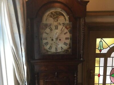 Antique Victorian Antique Clock Radcliffe Of Elland Restoration Or Repair