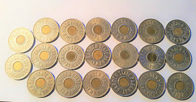 Vintage New Jersey Garden State Parkway GSP Car Fare Token Coin Lot of 20 Tokens