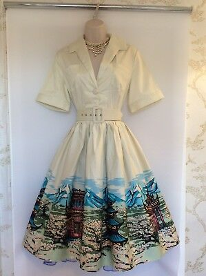 Tea Dress,rockabilly,swing,40's,50's,60's,vintage Collectif,style,size 10-12,nwt