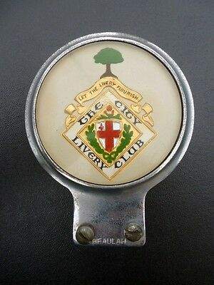 London City Livery Club license plate badge