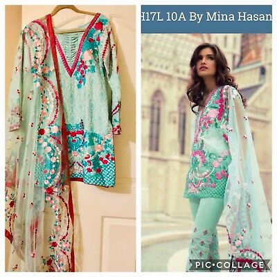 "Authentic 💯 % Designer""Mina Hassan""Salwar Kameez Indian Pakistani Cotton/lawn"