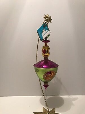 Christopher RADKO Christmas Ornament: Cup W/ Disk Reflector; Large Drop 1013996