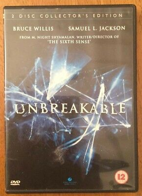 Unbreakable 2-Disc Collectors Edition (DVD, 2013) Great M. Night Shamalan Film.