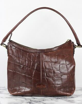 57f4af221711 MULBERRY VINTAGE RICH Brown Congo Leather Shoulder Bag - £119.99 ...