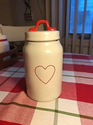 New! Rae Dunn Heart Medium Canister Valentines Day Red 2019 *htf*