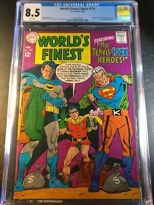 1968 DC World's Finest Comics #173 CGC 8.5 WP 1st Silver Age Two Face?
