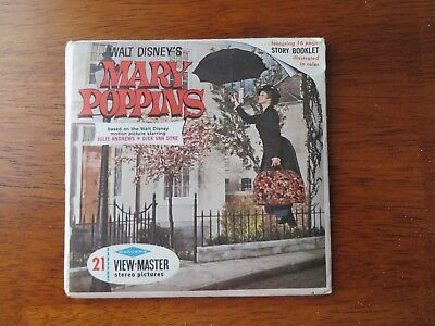 Vintage View-Master MARY POPPINS Disney – 3 reels & booklet –1964 Sawyers