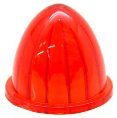 """bumper guide top lens watermelon red plastic for 1 1/4"""" screw on base each"""