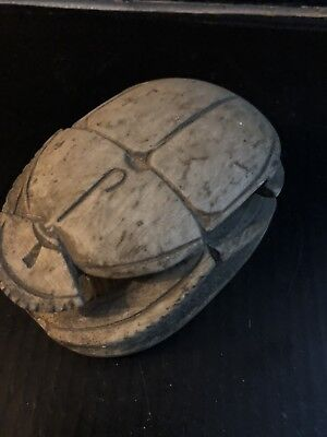 Rare Large Ancient Egyptian Scarab Middle Kingdom (2000 BCE)