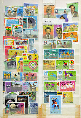 Stamps of Ghana,2 scans,MNH and FU,nice lot.