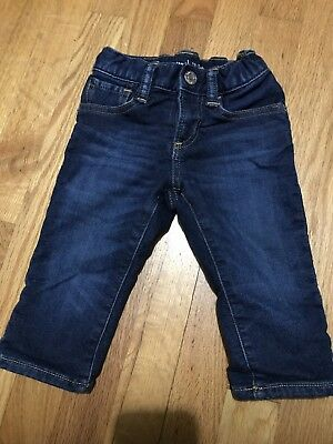 BABY GAP Boys 1969 Soft Straight Leg Jeans Size 12-18 Months With Lining
