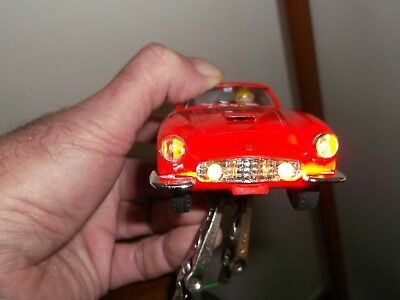 """Vintage Triang Scalextric E4 Ferrari G.T. C/69 """"With Lights"""" Boxed , Superb LOOK"""