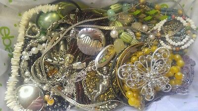 Lot of Vintage to Now Nice, All Wearable Jewelry..Angel, Butterfly, Beads, Chain