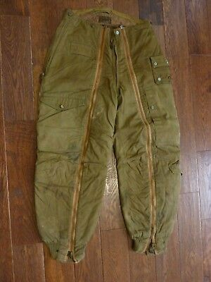 Vtg Men's 1945 WWII USAAF Air Force A-11-A Flight Pants 33x29 40s WW2 Army