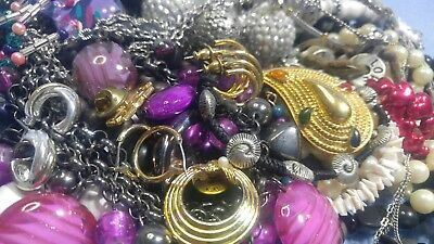 Lot of Vintage to Now Nice, All Wearable Jewelry..Art Glass, F Pearls,Lucite (BB