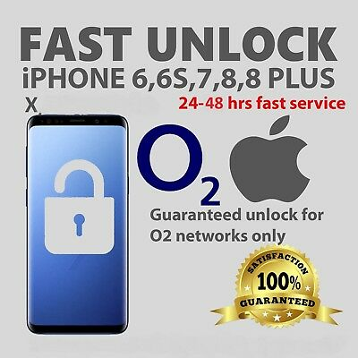 UNLOCK CODE SERVICE O2 TESCO For IPHONE 5 5C 5S 6 6s 7 8 Plus X UNLOCKING