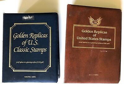 Golden Replicas of United States Stamps 22KT Gold Plated Collection of 60