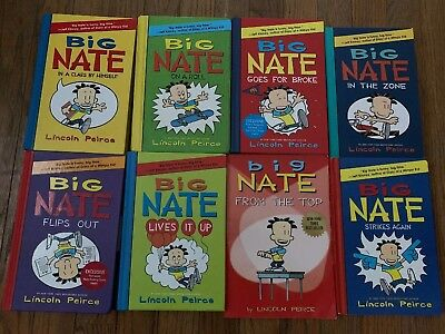 Lot of 8 Mixed Big Nate Books Flips Out, Strokes Again+ Lincoln Peirce