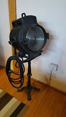 "Art Deco Mole Richardson Hollywood Industrial Movie Studio 10"" Spot Light"