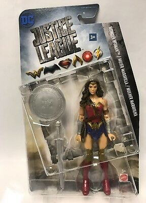 "DC Comics JUSTICE LEAGUE 6"" Wonder Woman Figure with Silver Sword and Shield"