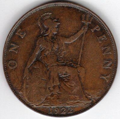 1922 One Penny King George V Fine condition