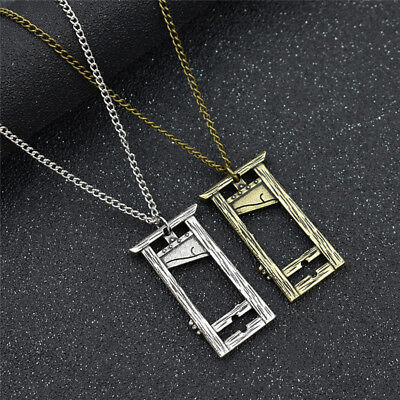 1Pc Guillotine Necklace French Guillotine Pendant Alloy Long Chain Jewelry