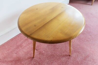 Retro Blonde Ercol Drop Leaf Coffee Table Windsor Natural Blonde Elm Number 308