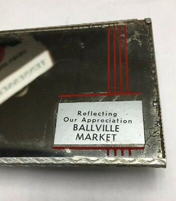 RARE Ballville Ohio MARKET Advertising Automobile Rear View Mirror Fremont OH