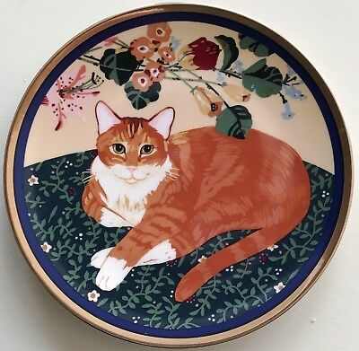 Special Gifts by Crowning Touch (Japan) CAT Collector's Plate with Gold Trim