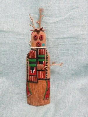 """Hopi kachina doll """"Masau"""" wall hanger style, great condition, by Mike Dallas Jr."""