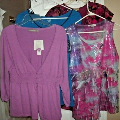 Womens clothing lot size Medium ladies clothes Tops Ruffles Style & Co. NWT +GUC