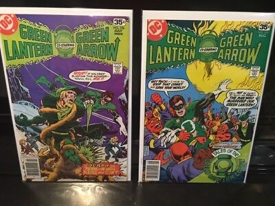 Green Lantern #106 and #107 (1978) Green Arrow Newsstand Edition DC Key