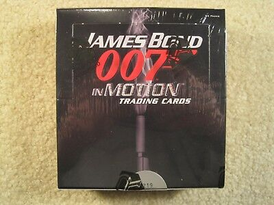 SEALED BOX 2008 Rittenhouse Archives James Bond in Motion Trading Cards