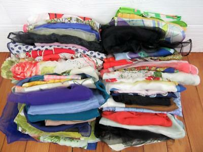 Lot Of 57 Vintage Scarves Assorted Styles Repair Craft Cutter Curtains