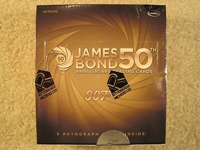 SEALED BOX 2012 Rittenhouse Archives James Bond 50th Anniversary Series 1