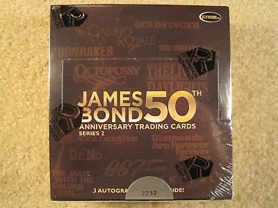 SEALED BOX 2012 Rittenhouse Archives James Bond 50th Anniversary Series 2
